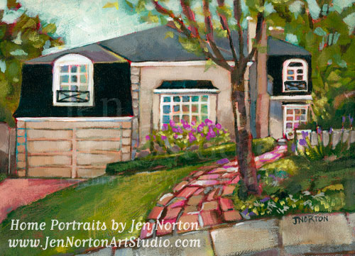 home portrait paintings © Jen Norton