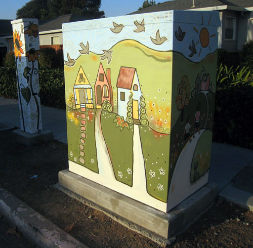 Jen Norton's painted electrical box, street side