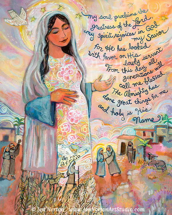 The Canticle of Mary (Magnificat)  Acrylic on Canvas, © Jen Norton