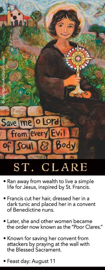 St. Clare of Assisi © Jen Norton