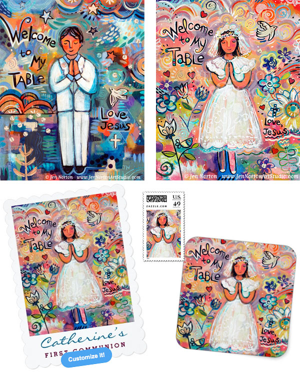 Art and Gifts for First Communion ©Jen Norton
