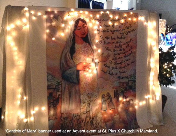Canticle of Mary event banner