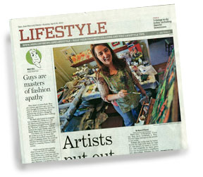 Jen in the Mercury News, April 2010