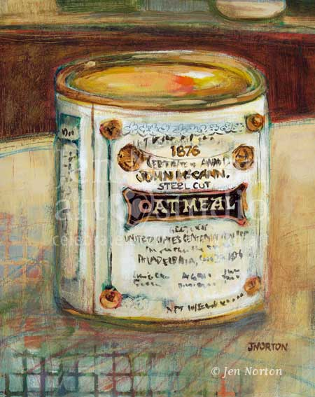 John McCann's Oatmeal can painting