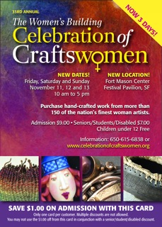 $1 off Celebration of Craftswomen