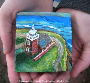 Santa Cruz Lighthouse Art © Jen Norton