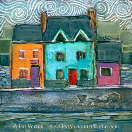 Colorful Irish Town Houses