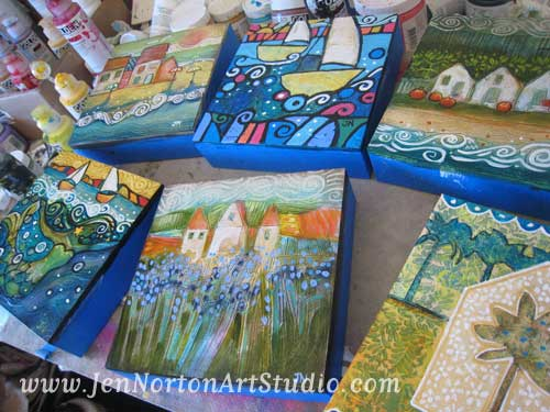 Work in progress in Jen Norton's studio