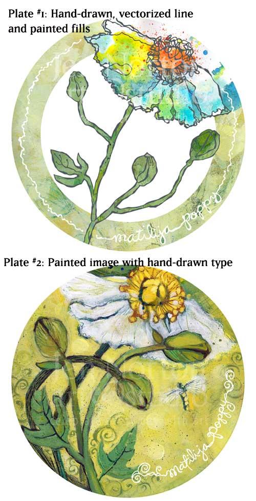 Poppy plate designs ©JenNorton