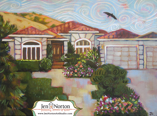 painted house commission by Jen Norton