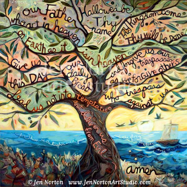 Our Father Painted Prayer by Jen Norton