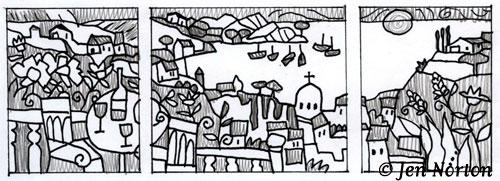 Landscape, sketch idea
