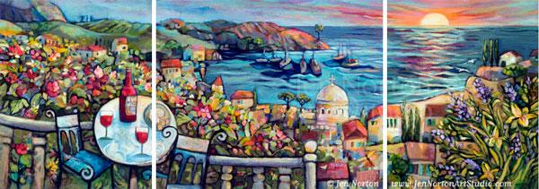 Mediterranean Landscape, step by step