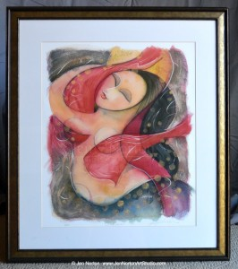 """Circle Dancer"" framed giclee print by Jen Norton"