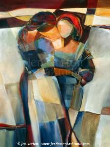 """Lines Crossed"" original painting by Jen Norton"