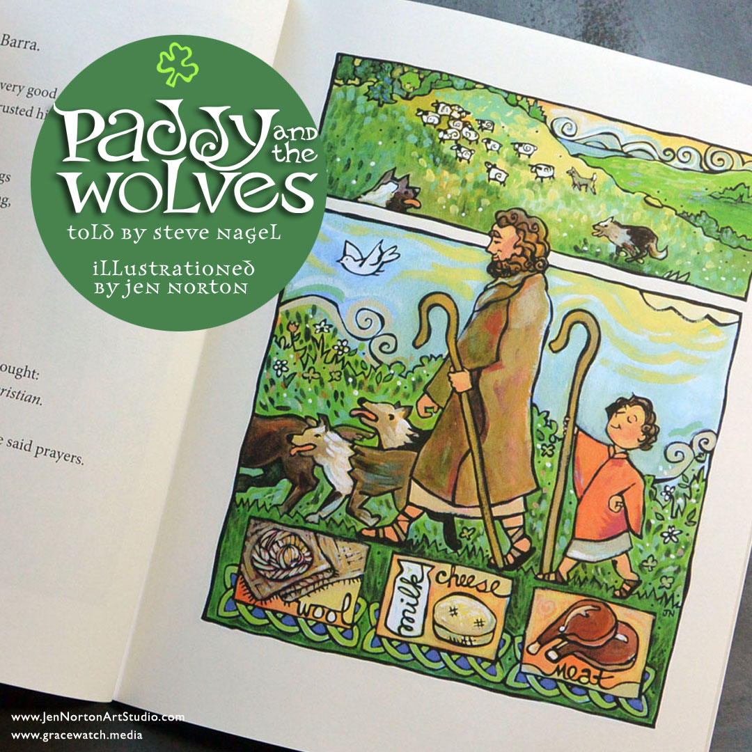Paddy and the Wolves, an illustrated children's book