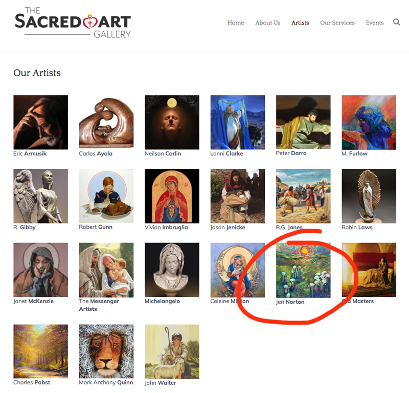 Jen Norton is one of the featured artists at the Sacred Art Gallery in Scottsdale, AZ